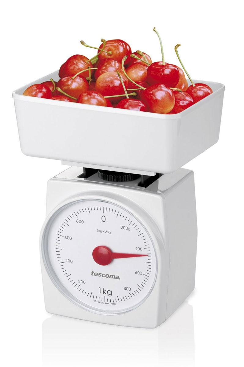 Кухонные весы Tescoma Accura, 2 кг634522Максимальный вес 2,0 кг - точные даже при маленьком размере - не требуют много места для хранения - механическая шкала, 1 отметка = 20 г - предназначены для домашнего использования - 3 года гарантии