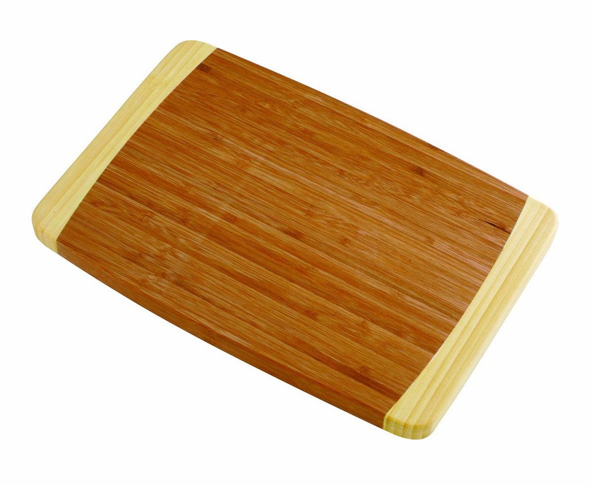 Доска разделочная Tescoma Bamboo, 36 х 24 см379814Разделочная доска Tescoma Bamboo станет незаменимым атрибутом приготовления пищи. Она выполнена из первоклассной высокопрочной древесины бамбука и идеально подходит для разделки мяса, рыбы, приготовления теста и нарезки любых продуктов, а особый дизайн ее поверхности предотвращает скольжение ножа. Современный стильный дизайн и функциональность разделочной доски Tescoma Bamboo позволит занять достойное место на вашей кухне. Размер доски: 36 см х 24 см.
