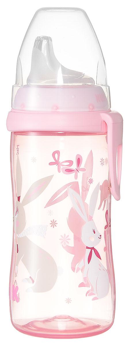 NUK Бутылочка-поильник Active Cup Зайчики с силиконовым носиком от 12 месяцев 300 мл