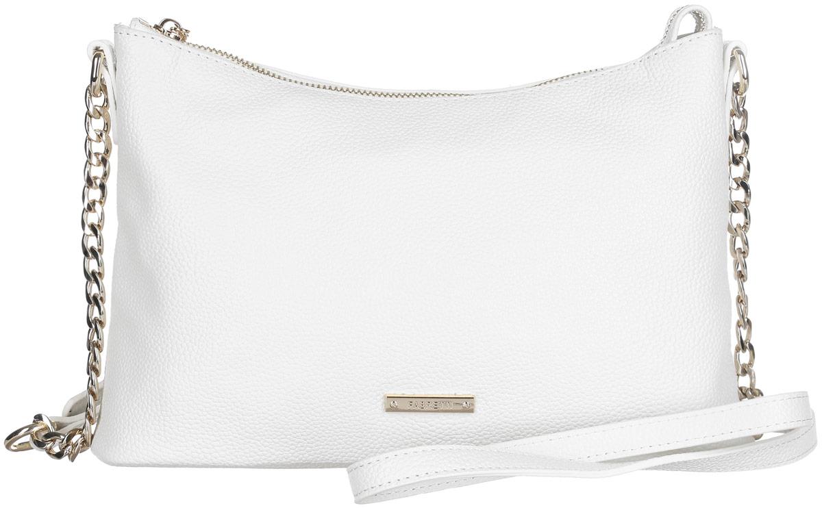 Сумка женская Fabretti, цвет: белый. N2557N2557-whiteСтильная женская сумка Fabretti выполнена из натуральной кожи с фактурным тиснением. Изделие содержит одно отделение, которое закрывается на застежку-молнию. Внутри расположены два накладных кармашка для мелочей, карман-средник на застежке-молнии и два врезных кармана на молнии. Снаружи, на задней стороне сумки, расположен врезной карман на застежке-молнии. Сумка оснащена плечевым ремнем, который можно регулировать по длине. Оригинальный аксессуар позволит вам завершить образ и быть неотразимой.