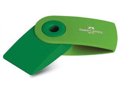 Faber-Castell Ластик SLEEVE - мини флуоресцентный цвет салатовый