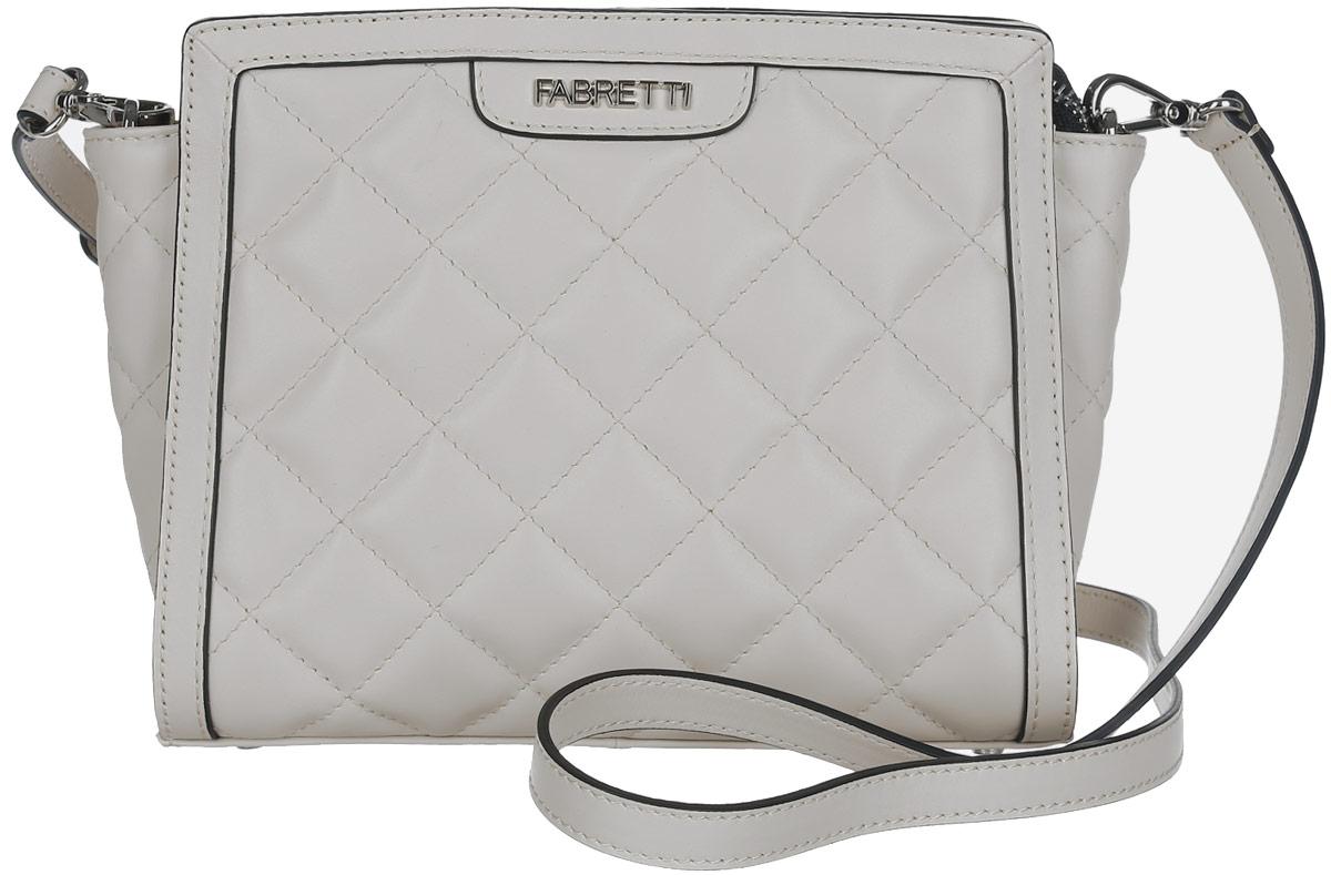 Сумка женская Fabretti, цвет: бежевый. F13983C2-114F13983C2-114 greamСтильная женская сумка Fabretti выполнена из натуральной кожи. Изделие содержит одно отделение, которое закрывается на застежку-молнию. Внутри расположен один накладной кармашек для мелочей и врезной карман на молнии. Снаружи, на задней стороне сумки, расположен врезной карман на застежке-молнии. Сумка оснащена съемным плечевым ремнем, который можно регулировать по длине. Оригинальный аксессуар позволит вам завершить образ и быть неотразимой.