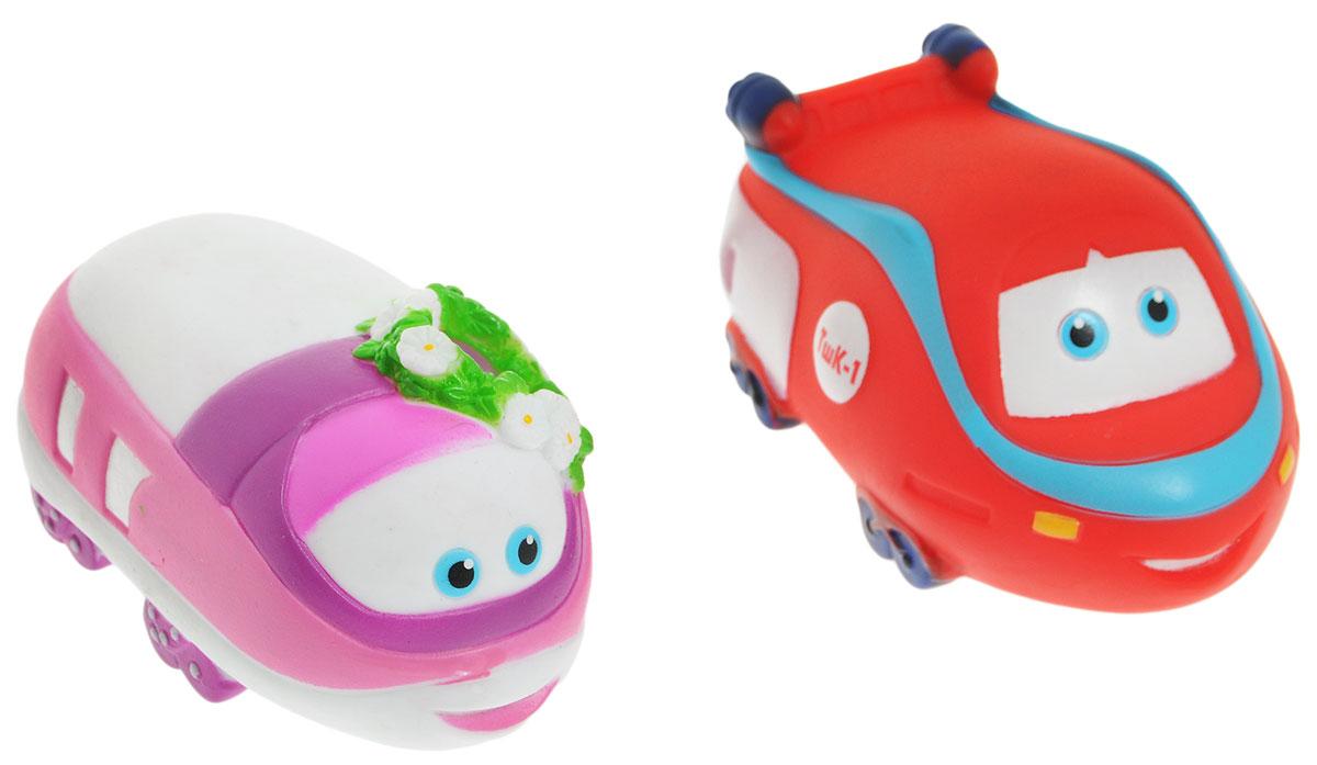 Играем вместе Набор игрушек для ванной Паровозик Тишка цвет красный белый розовый 2 шт175R-PVC_красный, белый, розовыйНабор игрушек для ванной Играем вместе Паровозик Тишка превратит купание вашего малыша в интересную и веселую игру. В набор входят две яркие игрушки героев мультфильма Паровозик Тишка: паровозики Тишка и Элька. С таким набором малыш сможет придумать множество веселых игр и историй. При сжатии игрушки забавно пищат, если набрать в них воды - будут пускать фонтанчики. Игрушки способствуют развитию внимательности, мелкой моторики рук, воображения, зрительного восприятия.