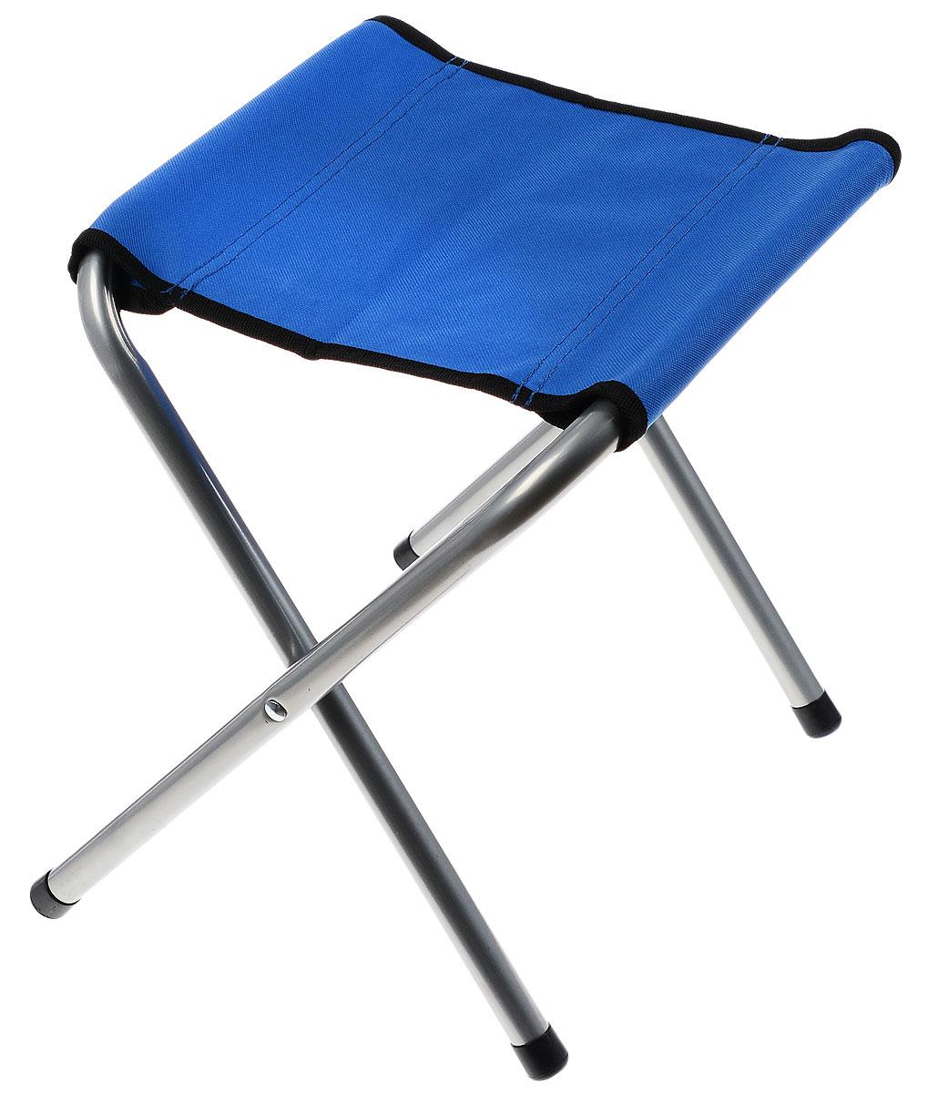 "Табурет складной ""Irit Home"", цвет: стальной, синий, 28 х 33 х 35 см"