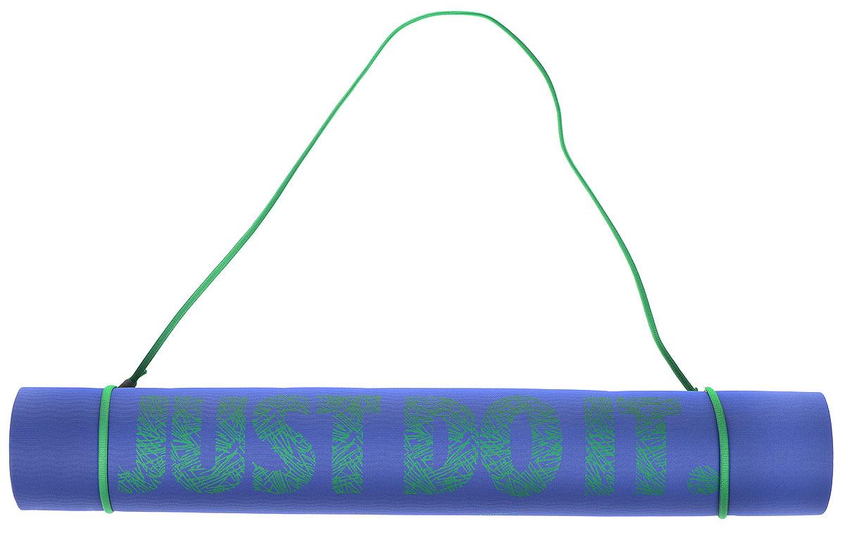 Коврик для йоги Nike, цвет: синий, зеленый, 61 х 173 х 0,3 смN.YE.23.442.OSКоврик для йоги Nike - это современный, удобный и компактный аксессуар для занятий фитнесом и йогой в группах или домашних условиях. Изделие выполнено из эластомера. В процессе занятий коврик не растягивается и не теряет формы. Легкий коврик оснащен шнурком для комфортного хранения и переноски в свернутом состоянии. Рекомендована ручная стирка при 30°С.