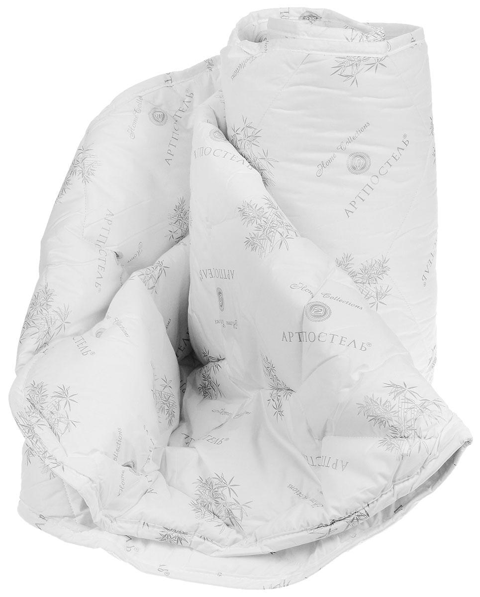 Одеяло Арт Постель, наполнитель: бамбуковые и полиэфирные волокна, 172 см х 205 см2095мОдеяло Арт Постель обеспечит вам здоровый сон и комфорт. Чехол, выполненный из 100% хлопка (тик пухоперовой), оформлен фигурной стежкой и рисунком бамбука. В качестве наполнителя используются волокно бамбука (35%) и полиэфирное волокно (65%). Благодаря своему растительному происхождению, волокно бамбука является экологически чистым продуктом с прекрасными вентилирующими свойствами. Наполнитель из волокна бамбука обладает мягкостью и пористой структурой, которая помогает бороться с потоотделением, регулирует влажность и выравнивает температуру, создавая охлаждающий эффект. Волокно бамбука антиаллергенно и обладает антибактериальными свойствами, естественным образом уничтожая более 70% бактерий, попадающих на него. Одеяло с таким наполнителем создаст прекрасный микроклимат для вашего сна. Одеяло упаковано в пластиковую сумку-чехол, закрывающуюся на застежку- молнию. Рекомендации по уходу: - Можно стирать в стиральной машине....