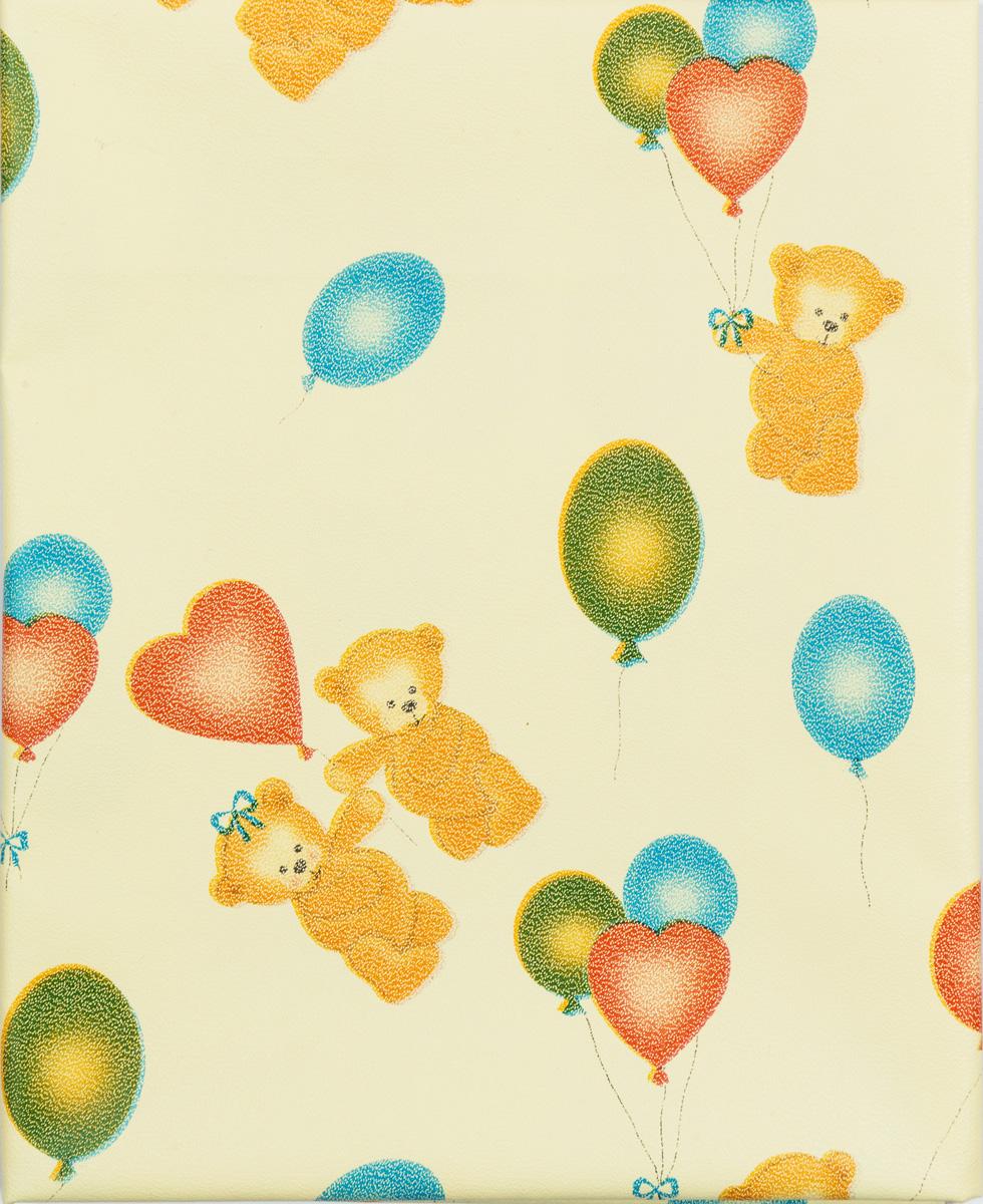 Колорит Клеенка подкладная с резинками-держателями цвет желтый, голубой, зеленый 50 х 70 см0063_желтый фон с рисункомКлеенка подкладная с ПВХ покрытием Колорит предназначена для санитарно-гигиенических целей в качестве подкладного материала в медицинской практике и в домашних условиях. ПВХ покрытие влагонепроницаемо и обладает эффектом теплоотдачи, что исключает эффект холодного прикосновения. Микропористая структура поливинилхлоридного покрытия способствует профилактике пролежней и трофических проявлений. Клеенка окантована текстильной тесьмой и дополнена резинками-держателями, что обеспечивает опрятный внешний вид и надежную фиксацию и позволяет избежать сползания клеенки. Клеенка дополнена принтом с изображением очаровательных медвежат и воздушных шаров.