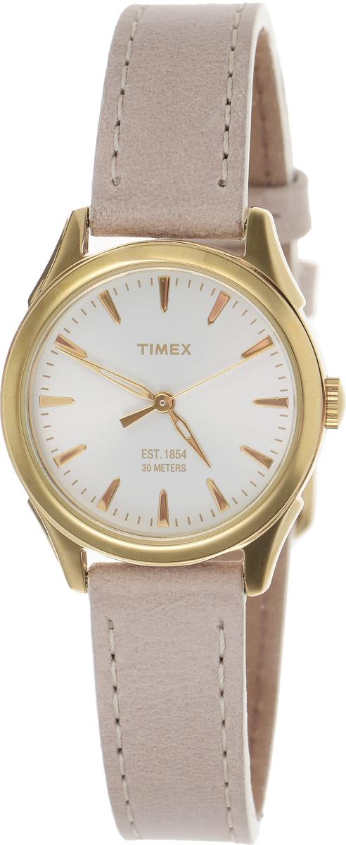 Часы наручные женские Timex Style Elevated, цвет: бежевый. TW2P82000TW2P82000Стильные часы Timex Style Elevated - это модный и практичный аксессуар, который не только выгодно дополнит ваш наряд, но и будет незаменим для каждой современной девушки, ценящей свое время. Корпус с минеральным стеклом выполнен из латуни и оснащен задней крышкой из нержавеющей стали. Циферблат оформлен логотипом бренда. Корпус изделия имеет степень влагозащиты 3 Bar, оснащен кварцевым механизмом и дополнен устойчивым к царапинам минеральным стеклом. Элегантный ремешок выполнен из натуральной кожи и дополнен пряжкой, которая позволяет с легкостью снимать и надевать изделие. Часы поставляются в фирменной упаковке. Часы Timex подчеркнут изящество ваших рук, а также ваш неповторимый стиль.