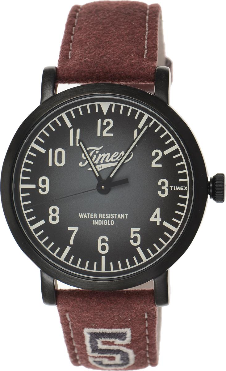 Часы наручные мужские Timex Originals, цвет: бордовый, черный. TW2P83200TW2P83200Стильные мужские часы Timex Originals - это модный и практичный аксессуар, который не только выгодно дополнит ваш образ, но и будет незаменим для каждого современного мужчины, ценящего свое время. Корпус выполнен из нержавеющей стали. Циферблат оснащен запатентованной электролюминесцентной подсветкой Indiglo и оформлен логотипом бренда. Корпус изделия имеет степень влагозащиты 3 Bar, оснащен кварцевым механизмом и дополнен устойчивым к царапинам минеральным стеклом. Прочный и устойчивый к выцветанию ремешок имеет покрытие из натуральной кожи и дополнен пряжкой, которая позволяет с легкостью снимать и надевать изделие. Часы поставляются в фирменной упаковке. Часы Timex подчеркнут ваш неповторимый стиль и дополнят любой наряд.