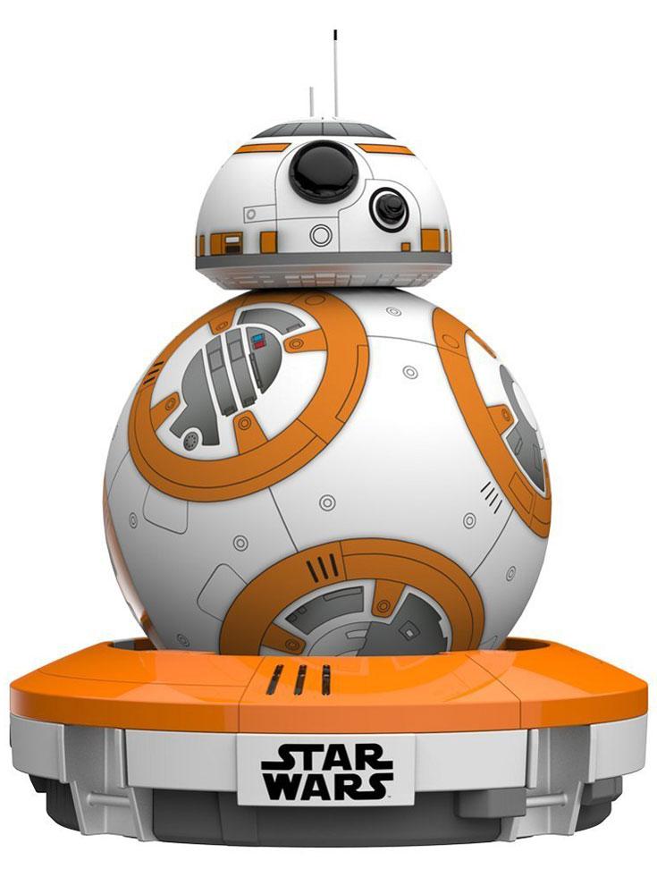 Sphero Робот на радиоуправлении BB-8 Star Wars DroidR001ROWSphero BB-8 StarWars Droid это радиоуправляемая игрушка, дизайн, принцип действия, алгоритмы поведения и принципы управления которой скопированы с того самого робота BB-8, который снимался в седьмом эпизоде Star Wars: The Force Awakens. Теперь вы можете приобрести себе собственную копию BB-8, которая поддерживает дистанционное управление с помощью смартфона или планшета. Робот имеет куполообразную голову и шарообразное тело, которое позволяет ему передвигаться по любым поверхностям. В основу работы дроида положен принцип гироскопической тяги. Связь с мобильными устройствами поддерживает по Bluetooth 4.0, благодаря чему он может удаляться от пользователя на расстояние до 30 метров. Дроид обучен самостоятельно исследовать местность, избегать препятствия, запоминать расположение объектов и следовать по маршруту, который проложил для него пользователь. Он не боится повышенной влажности и может передвигаться по мокрым поверхностям. Ёмкости его...