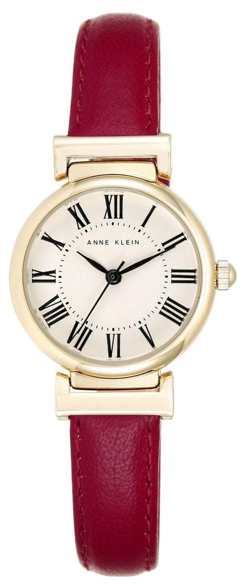 Часы наручные женские Anne Klein Daily, цвет: золотистый, красный. 22462246 CRRDЭлегантные женские часы Anne Klein Daily выполнены из металлического сплава и оформлены символикой бренда. Лаконичный корпус надежно защищен устойчивым к царапинам минеральным стеклом, а также имеет степень влагозащиты 3 Bar. Часы оснащены кварцевым механизмом, дополнены изящным ремешком из натуральной кожи. Ремешок застегивается на практичную пряжку. Часы поставляются в фирменной упаковке. Часы Anne Klein Daily подчеркнут изящество женской руки и отменное чувство стиля у их обладательницы.