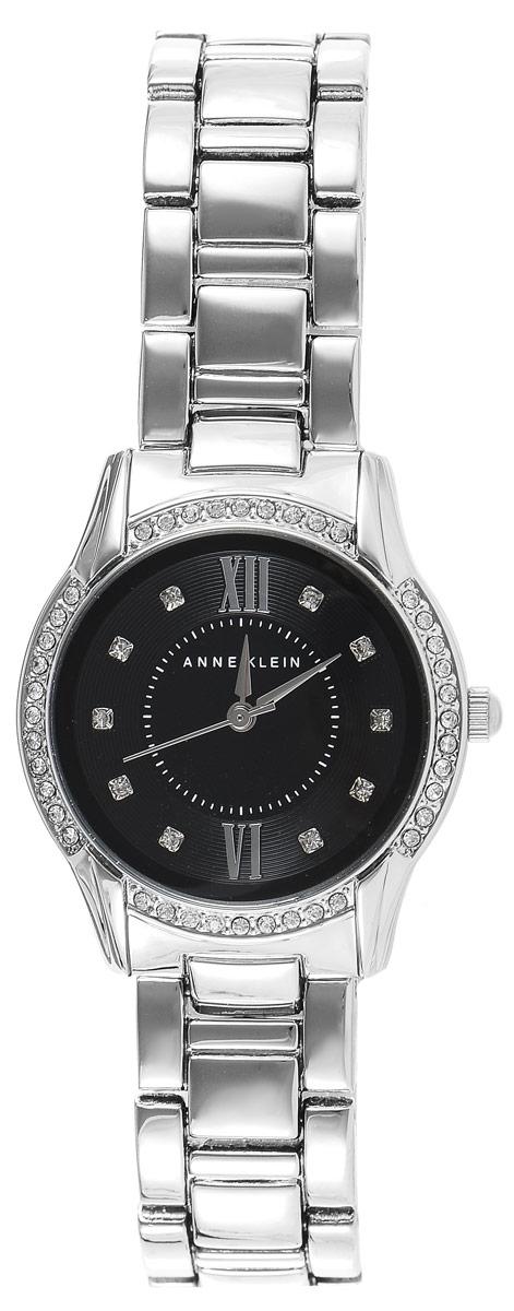 Часы наручные женские Anne Klein Crystal, цвет: серебристый. 21612161 BKSVЭлегантные женские часы Anne Klein Crystal выполнены из металлического сплава, оформлены кристаллами Swarovski и символикой бренда. Лаконичный корпус надежно защищен устойчивым к царапинам минеральным стеклом, а также имеет степень влагозащиты 3 Bar. Часы оснащены кварцевым механизмом, дополнены изящным браслетом со складным замком. В конструкции застежки предусмотрено дополнительное звено, благодаря которому возможно регулировать длину изделия. Часы поставляются в фирменной упаковке. Часы Anne Klein Crystal подчеркнут изящество женской руки и отменное чувство стиля у их обладательницы.