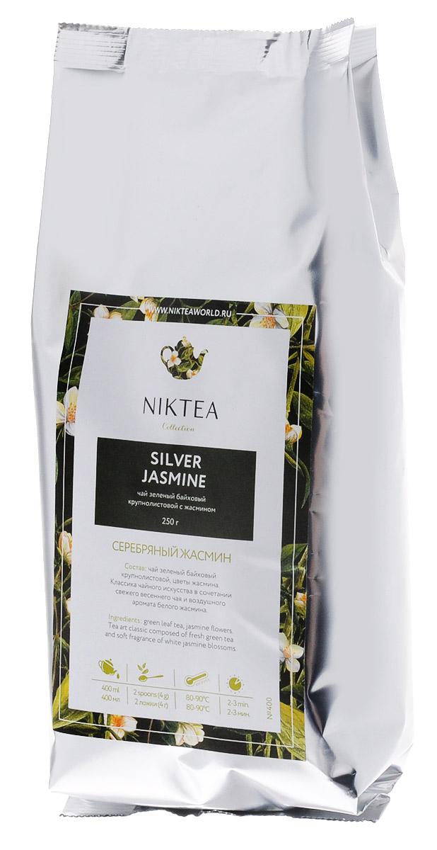Niktea Silver Jasmine зеленый листовой чай, 250 гTALTHA-DP0013Зеленый листовой чай Niktea Silver Jasmine - это классика чайного искусства в сочетании свежего весеннего чая и воздушного аромата белого жасмина. NikTea следует правилу качество чая - это отражение качества жизни и гарантирует: Тщательно подобранные рецептуры в коллекции топовых позиций-бестселлеров. Контролируемое производство и сертификацию по международным стандартам. Закупку сырья у надежных поставщиков в главных чаеводческих районах, а также в основных центрах тимэйкерской традиции - Германии и Голландии. Постоянство качества по строго утвержденным стандартам. NikTea - это два вида фасовки - линейки листового и пакетированного чая в удобной технологичной и информативной упаковке. Чай обладает многофункциональным вкусоароматическим профилем и подходит для любого типа кухни, при этом постоянно осуществляет оптимизацию базовой коллекции в соответствии с новыми тенденциями чайного рынка. Листовая коллекция NikTea...