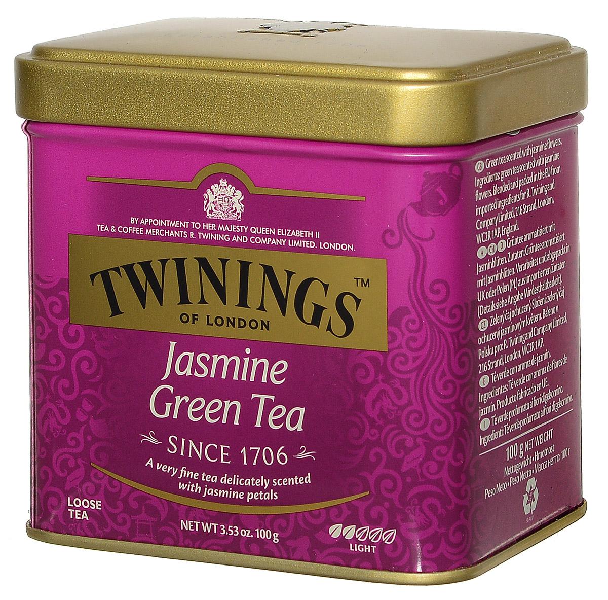 Twinings Jasmine Tea зеленый листовой чай с жасмином, 100 г (ж/б) free shipping 2015 yr new tea premium jasmine pearl tea jasmine longzhu flower tea green tea 250g bag vacuum packaging