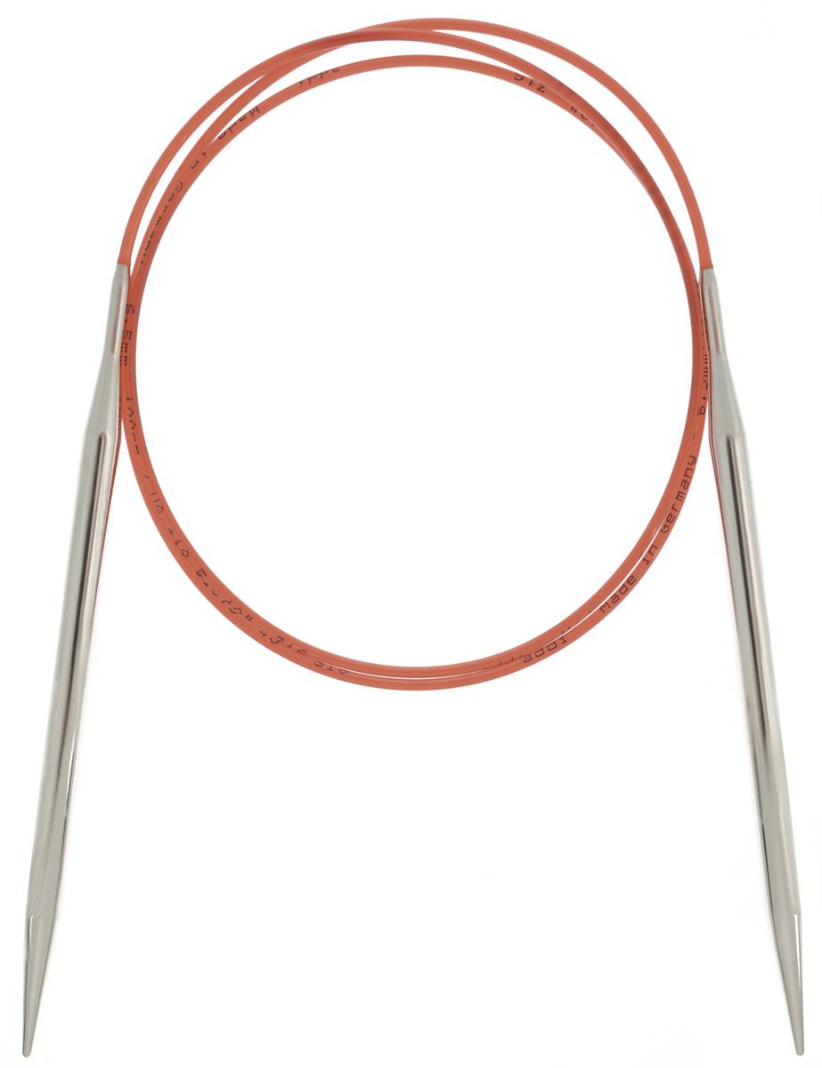Спицы Addi, с удлиненным кончиком, круговые, цвет: серебристый, красный, диаметр 6,5 мм, длина 100 см775-7/6.5-100Спицы Addi изготовлены из латуни с никелированной поверхностью. Полые, очень легкие спицы с удлиненным кончиком скреплены мягким и гибким нейлоновым шнуром. Гладкое никелированное покрытие и тонкие переходы от спицы к шнуру позволяют петлям легче скользить. Малый вес изделия убережет ваши руки от усталости при вязании. Вы сможете вязать для себя, делать подарки друзьям. Работа, сделанная своими руками, долго будет радовать вас и ваших близких.