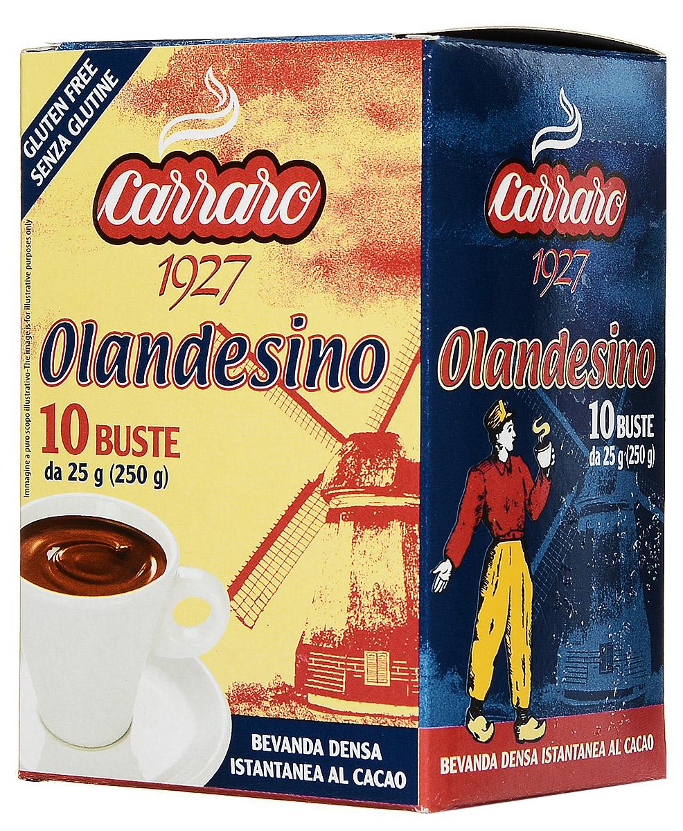 Carraro Olandesino растворимый шоколад, 10 пакетиков по 25 г