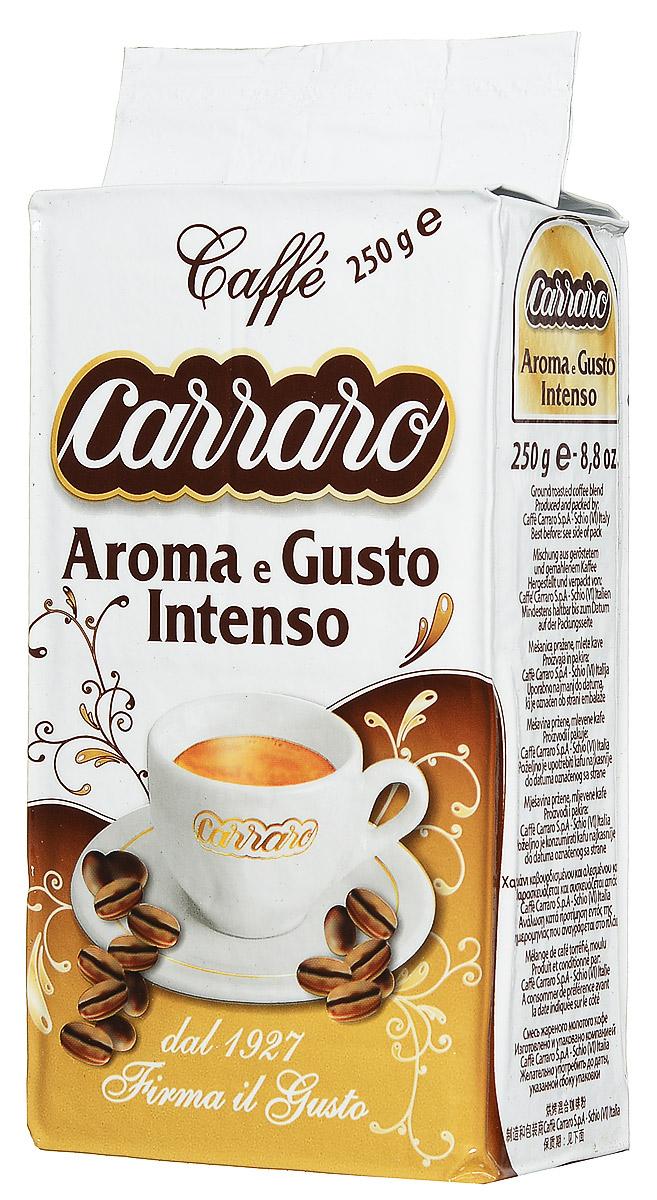 Carraro Aroma e Gusto кофе молотый, 250 г800604001030Carraro Aroma e Gusto - кофе с приятной горчинкой. Он отличается густой пенкой, тонким ароматом и насыщенным вкусом и подойдет для любого времени дня.