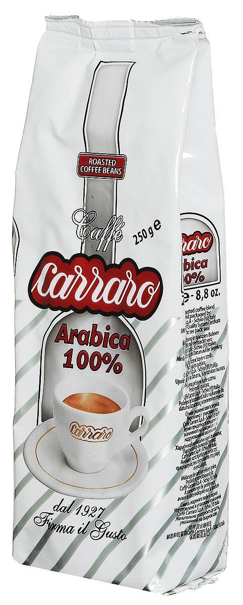 Carraro Arabica 100% кофе в зернах, 250 г8000604001429Carraro Arabica - ароматный вкус сладости для изысканных гурманов. Это смесь арабики, которая представляет собой максимум с точки зрения аромата и тонкости вкуса - визитная карточка фабрики. Продукт - плод постоянных исследований и очень тщательной обработки - для самых изысканных ценителей.