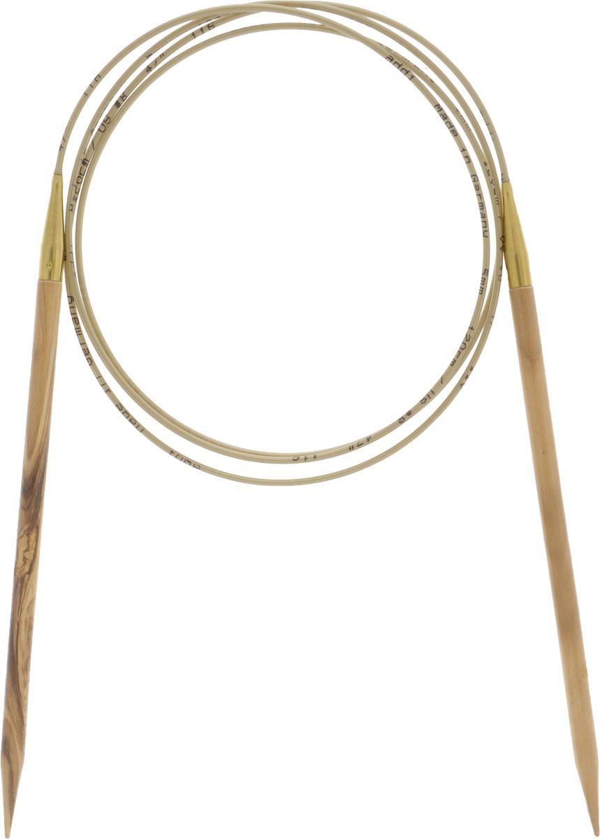 Спицы Addi, из оливкового дерева, круговые, диаметр 5,0 мм, длина 120 см575-7/5-120Спицы Addi изготовлены из оливкового дерева и скреплены гибким нейлоновым шнуром. Каждая спица из оливкового дерева уникальна своим рисунком. Изделия обработаны натуральным воском, что делает их особенно гладкими и приятными в работе. Помимо мягкости и удобства при работе эти спицы являются элементами роскоши. Вы сможете вязать для себя, делать подарки друзьям. Работа, сделанная своими руками, долго будет радовать вас и ваших близких.