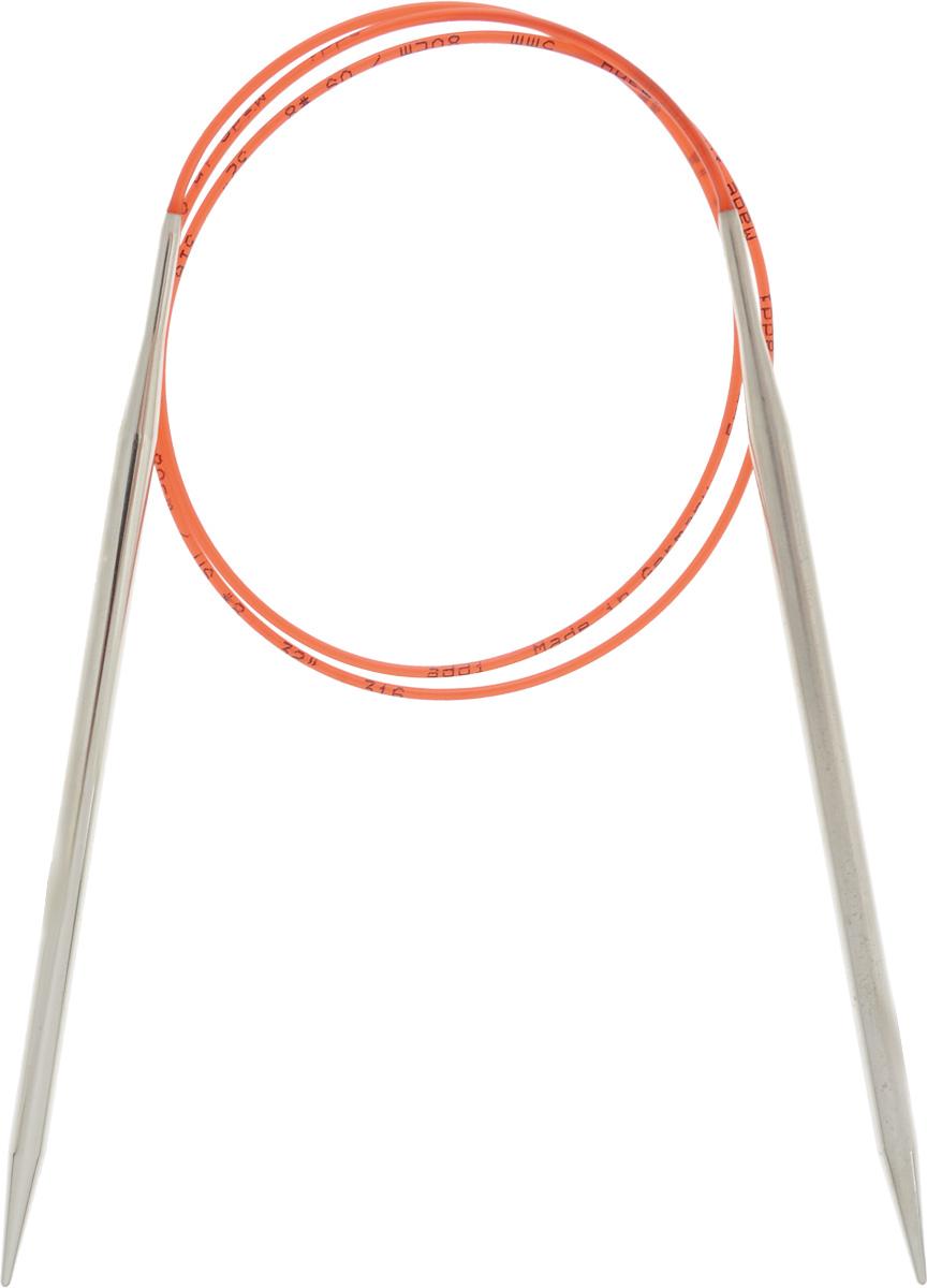 Спицы Addi, с удлиненным кончиком, круговые, цвет: серебристый, красный, диаметр 5 мм, длина 80 см775-7/5-80Спицы Addi изготовлены из латуни с никелированной поверхностью. Полые, очень легкие спицы с удлиненным кончиком скреплены мягким и гибким нейлоновым шнуром. Гладкое никелированное покрытие и тонкие переходы от спицы к шнуру позволяют петлям легче скользить. Малый вес изделия убережет ваши руки от усталости при вязании. Вы сможете вязать для себя, делать подарки друзьям. Работа, сделанная своими руками, долго будет радовать вас и ваших близких.