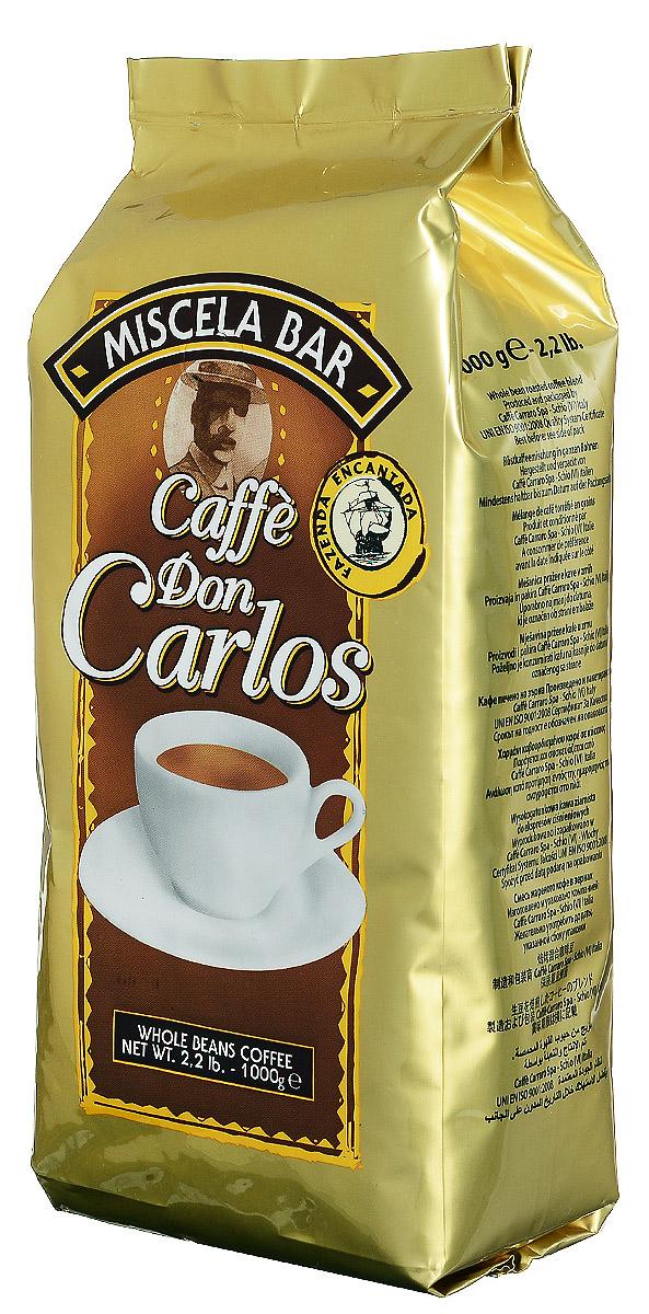 Carraro Don Carlos кофе в зернах, 1 кг8000604800060Carraro Don Carlos - это настоящий традиционный крепкий итальянский кофе, насыщенная консистенция и аромат которого является результатом создания смеси из лучших зерен Арабики и Робусты из разных стран.
