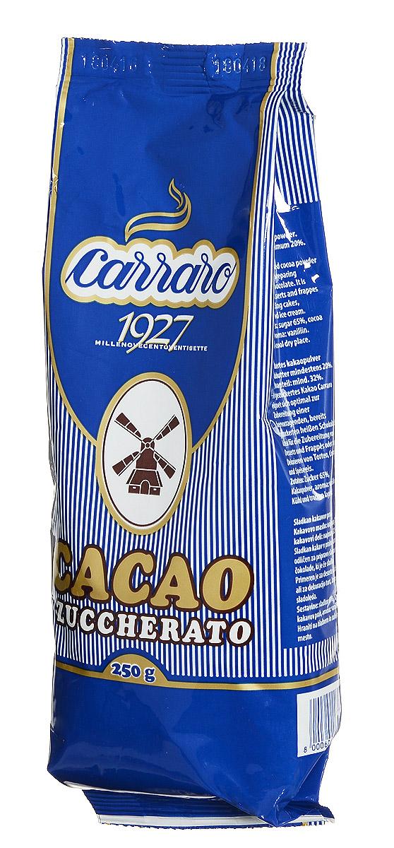 Carraro Sugar Cocoa какао с сахаром, 250 г8000604003010Carraro Sugar Cocoa идеально для завтрака. Сладкое какао производится из лучшего какао-порошка с содержанием какао-масла 20-22%.