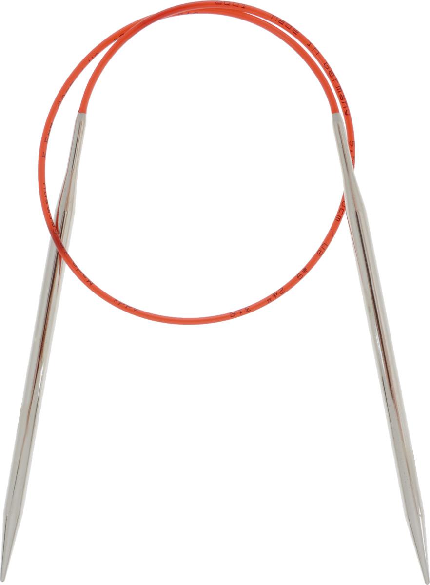 Спицы Addi, с удлиненным кончиком, круговые, цвет: серебристый, красный, диаметр 5,5 мм, длина 60 см775-7/5.5-60Спицы Addi изготовлены из латуни с никелированной поверхностью. Полые, очень легкие спицы с удлиненным кончиком скреплены мягким и гибким нейлоновым шнуром. Гладкое никелированное покрытие и тонкие переходы от спицы к шнуру позволяют петлям легче скользить. Малый вес изделия убережет ваши руки от усталости при вязании. Вы сможете вязать для себя, делать подарки друзьям. Работа, сделанная своими руками, долго будет радовать вас и ваших близких.