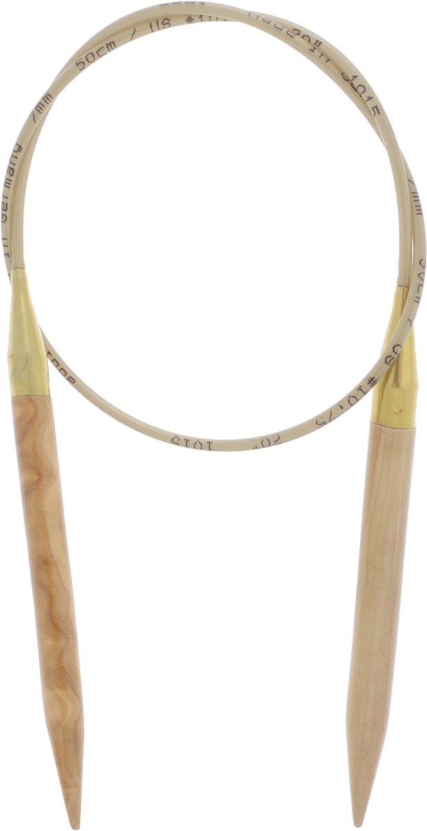 Спицы Addi, из оливкового дерева, круговые, диаметр 7,0 мм, длина 50 см. 575-7/7-50575-7/7-50Спицы Addi изготовлены из оливкового дерева и скреплены гибким нейлоновым шнуром. Каждая спица из оливкового дерева уникальна своим рисунком. Изделия обработаны натуральным воском, что делает их особенно гладкими и приятными в работе. Помимо мягкости и удобства при работе эти спицы являются элементами роскоши. Вы сможете вязать для себя, делать подарки друзьям. Работа, сделанная своими руками, долго будет радовать вас и ваших близких.
