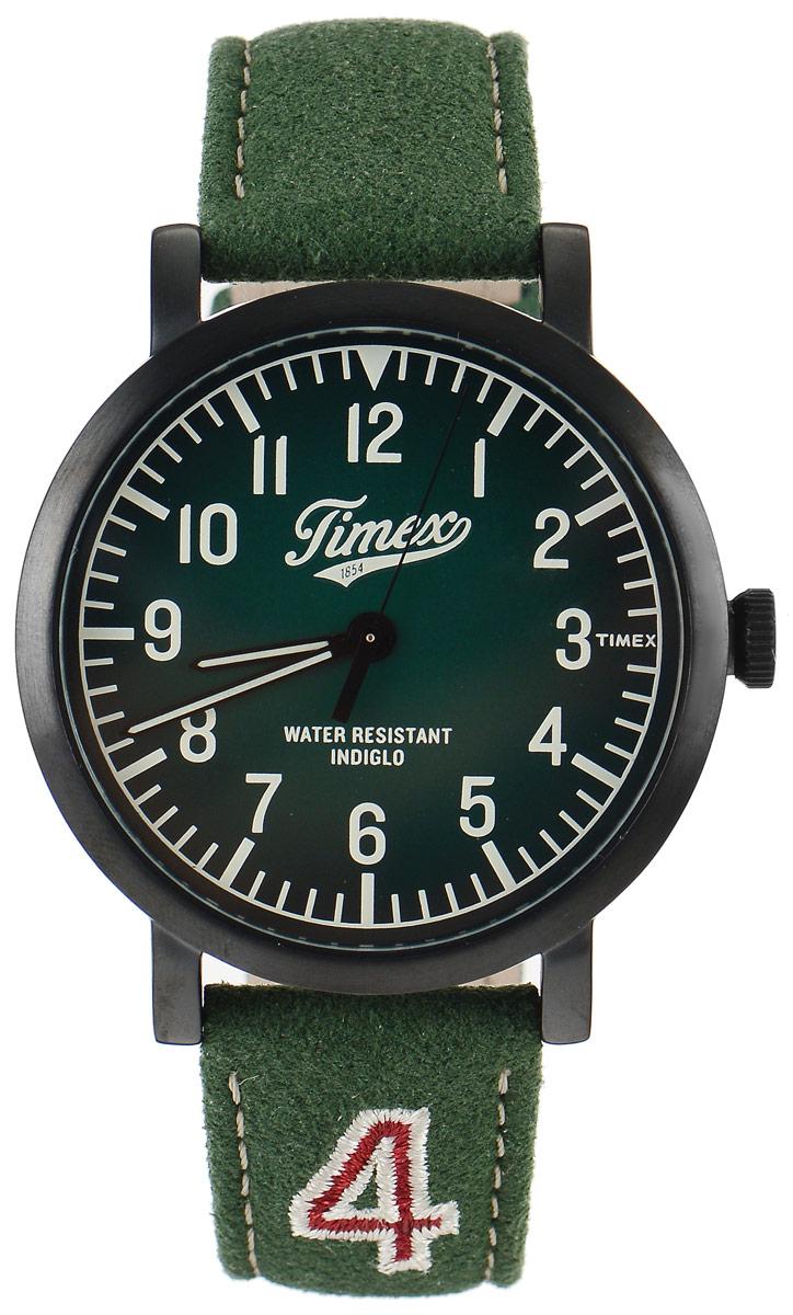 Часы наручные мужские Timex Originals, цвет: зеленый. TW2P83300TW2P83300Стильные мужские часы Timex Originals - это модный и практичный аксессуар, который не только выгодно дополнит ваш образ, но и будет незаменим для каждого современного мужчины, ценящего свое время. Корпус выполнен из нержавеющей стали. Циферблат оснащен запатентованной электролюминесцентной подсветкой Indiglo и оформлен логотипом бренда. Корпус изделия имеет степень влагозащиты 3 Bar, оснащен кварцевым механизмом и дополнен устойчивым к царапинам минеральным стеклом. Прочный и устойчивый к выцветанию ремешок имеет покрытие из натуральной кожи и дополнен пряжкой, которая позволяет с легкостью снимать и надевать изделие. Часы поставляются в фирменной упаковке. Часы Timex подчеркнут ваш неповторимый стиль и дополнят любой наряд.