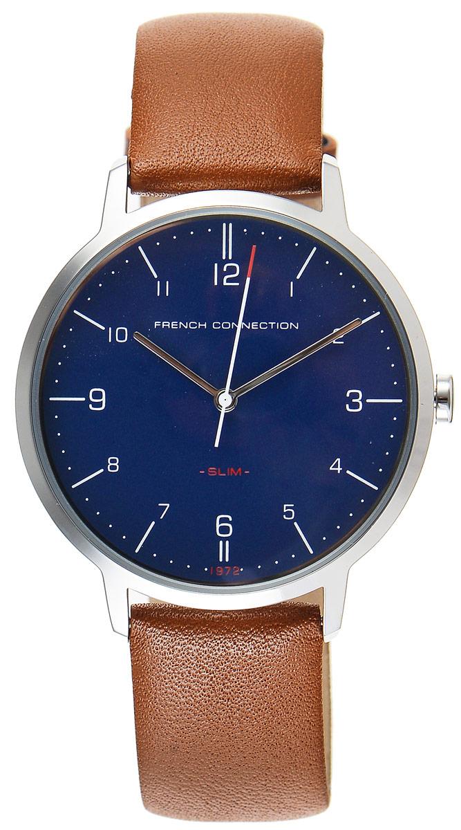 Часы наручные мужские French Connection Slim Range, цвет: коричневый, синий. FC1258TUFC1258TUСтильные мужские часы French Connection Slim Range - это модный и практичный аксессуар, который не только выгодно дополнит ваш образ, но и будет незаменим для каждого современного мужчины, ценящего свое время. Корпус выполнен из нержавеющей стали. Циферблат оформлен символикой бренда. Часы дополнены хронографом и имеют индикатор даты. Корпус изделия имеет степень влагозащиты 3 Bar, оснащен кварцевым механизмом и дополнен устойчивым к царапинам минеральным стеклом. Ремешок выполнен из натуральной кожи и дополнен пряжкой, которая позволяет с легкостью снимать и надевать изделие. Часы поставляются в фирменной упаковке. French Connection подчеркнут ваш неповторимый стиль и дополнят любой наряд.