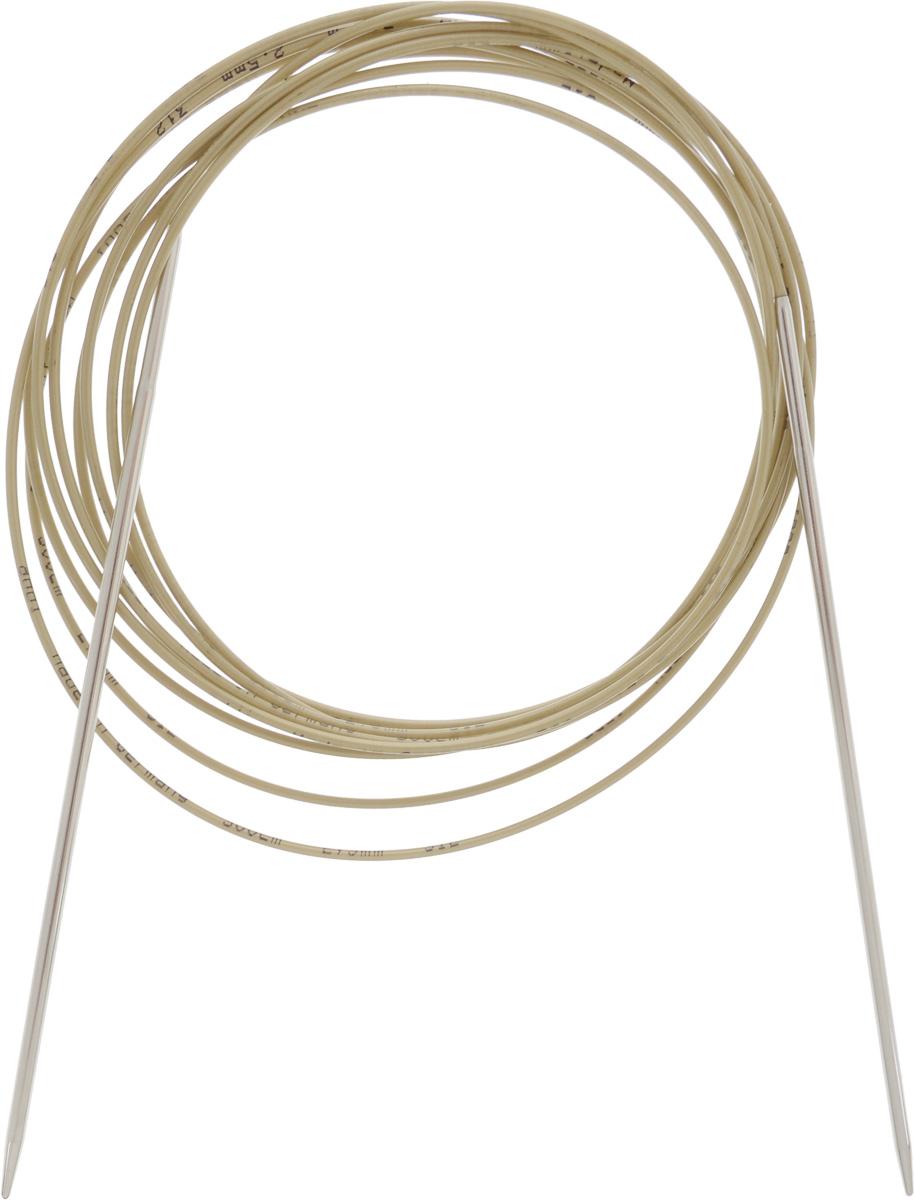 Спицы Addi, круговые, диаметр 2,5 мм, длина 300 см108-7/2.5-300Спицы Addi изготовлены из латуни с никелированной поверхностью. Полые, очень легкие спицы с удлиненным кончиком скреплены мягким и гибким нейлоновым шнуром. Гладкое никелированное покрытие и тонкие переходы от спицы к шнуру позволяют петлям легче скользить. Малый вес изделия убережет ваши руки от усталости при вязании. Вы сможете вязать для себя, делать подарки друзьям. Работа, сделанная своими руками, долго будет радовать вас и ваших близких.