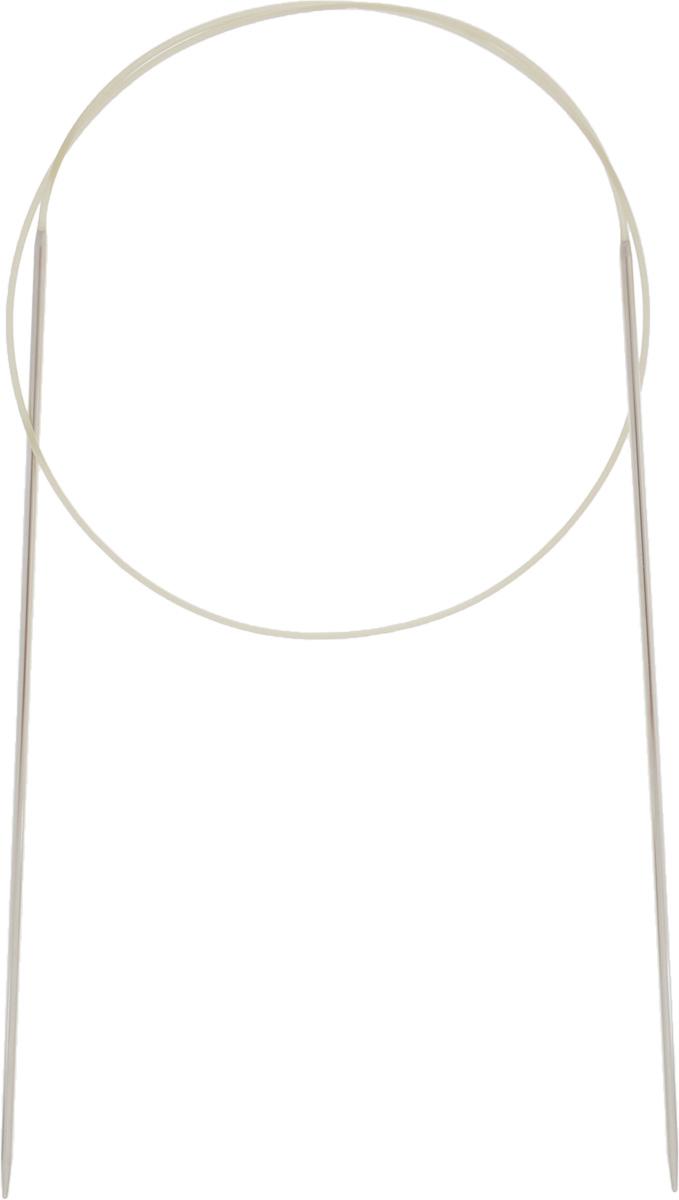 Спицы Addi, с удлиненным кончиком, круговые, цвет: серебристый, золотистый, диаметр 1,75 мм, длина 60 см715-7/1.75-60Спицы Addi изготовлены из латуни с никелированной поверхностью. Полые, очень легкие спицы с удлиненным кончиком скреплены мягким и гибким нейлоновым шнуром. Гладкое никелированное покрытие и тонкие переходы от спицы к шнуру позволяют петлям легче скользить. Малый вес изделия убережет ваши руки от усталости при вязании. Вы сможете вязать для себя, делать подарки друзьям. Работа, сделанная своими руками, долго будет радовать вас и ваших близких.