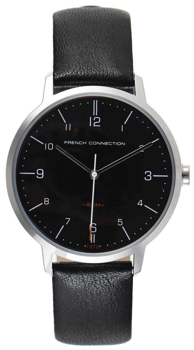 Часы наручные мужские French Connection Slim Range, цвет: черный. FC1258BFC1258BСтильные мужские часы French Connection Slim Range - это модный и практичный аксессуар, который не только выгодно дополнит ваш образ, но и будет незаменим для каждого современного мужчины, ценящего свое время. Корпус выполнен из нержавеющей стали. Циферблат оформлен символикой бренда. Часы дополнены хронографом и имеют индикатор даты. Корпус изделия имеет степень влагозащиты 3 Bar, оснащен кварцевым механизмом и дополнен устойчивым к царапинам минеральным стеклом. Ремешок выполнен из натуральной кожи и дополнен пряжкой, которая позволяет с легкостью снимать и надевать изделие. Часы поставляются в фирменной упаковке. French Connection подчеркнут ваш неповторимый стиль и дополнят любой наряд.