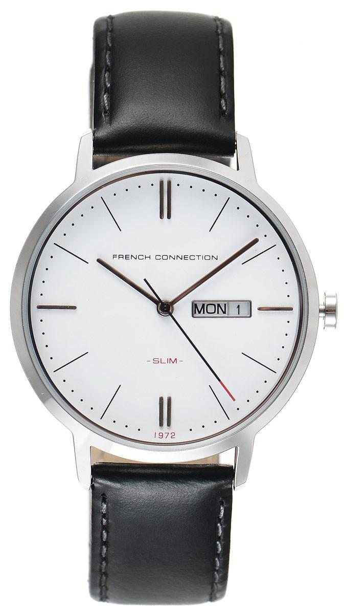Часы наручные French Connection Slim Range, цвет: черный. FC1262BFC1262BСтильные часы French Connection Slim Range - это модный и практичный аксессуар, который не только выгодно дополнит ваш образ, но и будет незаменим для каждого современного человека, ценящего свое время. Корпус с минеральным стеклом выполнен из нержавеющей стали. Циферблат оформлен символикой бренда. Часы дополнены хронографом и имеют индикатор даты. Корпус изделия имеет степень влагозащиты 3 Bar, оснащен кварцевым механизмом и дополнен устойчивым к царапинам минеральным стеклом. Ремешок выполнен из натуральной кожи и дополнен пряжкой, которая позволяет с легкостью снимать и надевать изделие. Часы оснащены индикатором дня недели и даты. Часы поставляются в фирменной упаковке. Часы French Connection подчеркнут ваш неповторимый стиль и дополнят любой наряд.