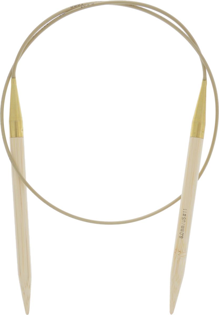 Спицы Addi, бамбуковые, круговые, диаметр 8 мм, длина 80 см555-7/8-80Спицы для вязания Addi, изготовленные из высококачественного бамбука, имеют закругленные кончики и скреплены гибким нейлоновым шнуром, позволяющим мягко скользить спицам между петлями. Бамбуковые спицы идеально подходят для людей с аллергией на металлы. Поверхность спицы обрабатывается специальным, высокотехнологичным японским воском, который закрывает поры бамбука и делает поверхность абсолютно гладкой. Изделие прочное и легкое, руки абсолютно не устают при вязании. Вы сможете вязать для себя, делать подарки друзьям. Работа, сделанная своими руками, долго будет радовать вас и ваших близких.
