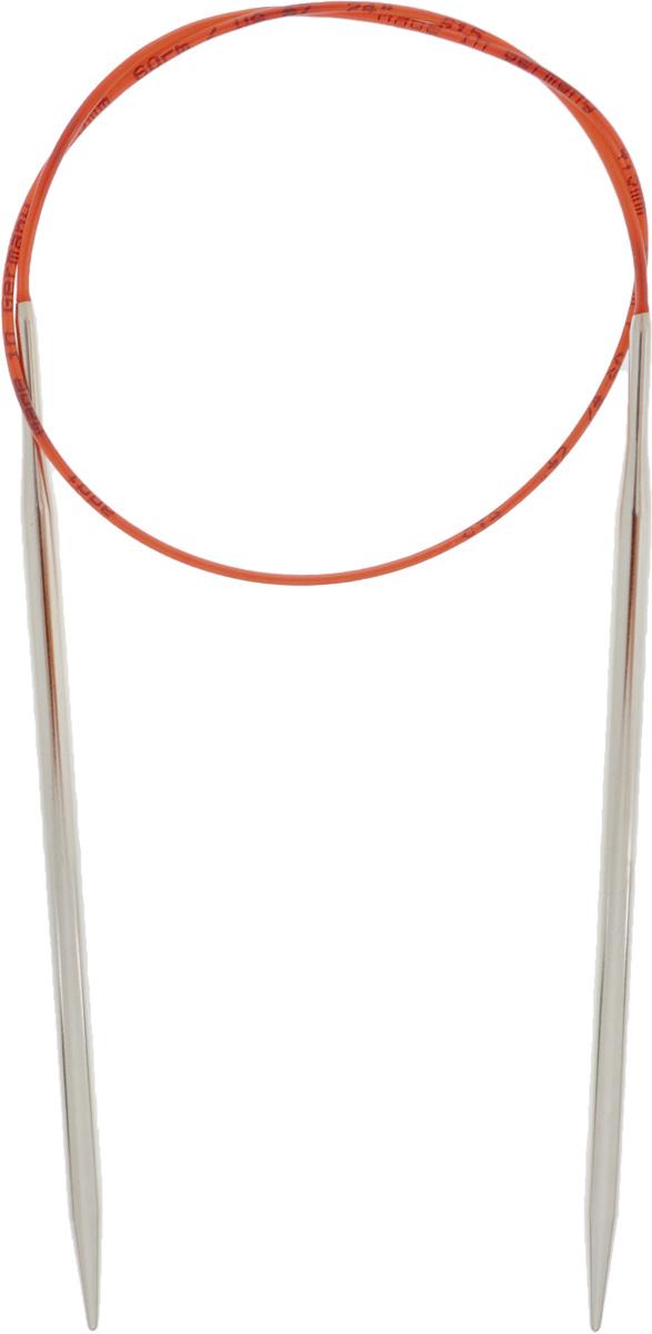 Спицы Addi, с удлиненным кончиком, круговые, цвет: серебристый, красный, диаметр 4,5 мм, длина 60 см775-7/4.5-60Спицы Addi изготовлены из латуни с никелированной поверхностью. Полые, очень легкие спицы с удлиненным кончиком скреплены мягким и гибким нейлоновым шнуром. Гладкое никелированное покрытие и тонкие переходы от спицы к шнуру позволяют петлям легче скользить. Малый вес изделия убережет ваши руки от усталости при вязании. Вы сможете вязать для себя, делать подарки друзьям. Работа, сделанная своими руками, долго будет радовать вас и ваших близких.