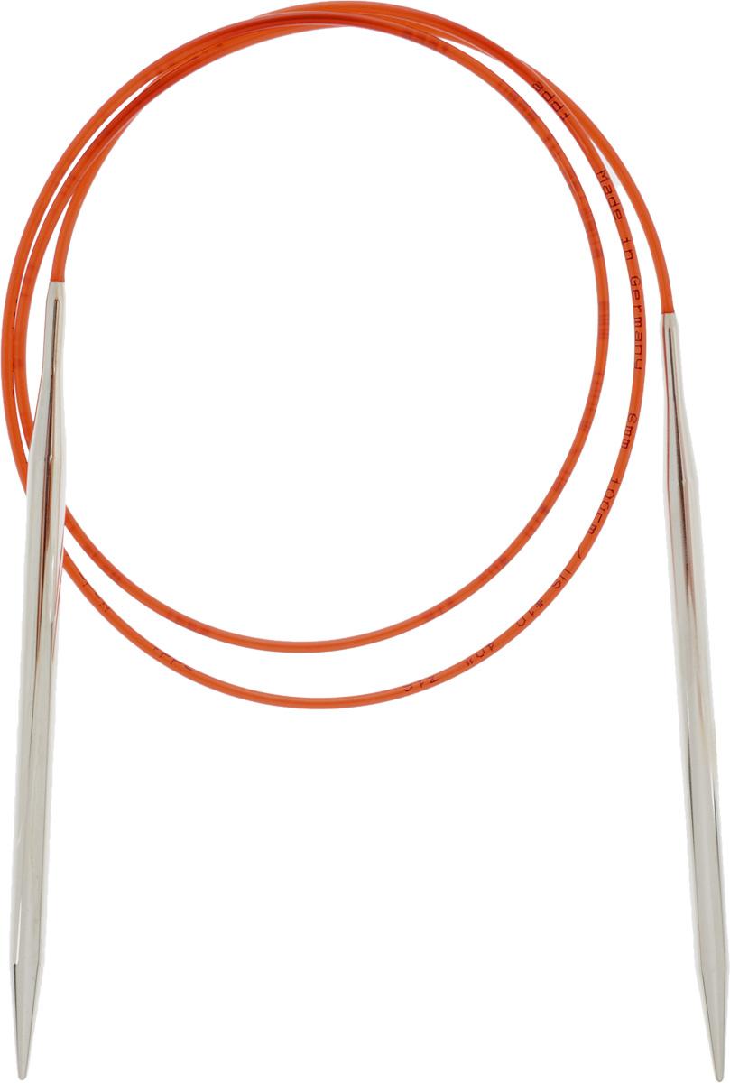 Спицы Addi, с удлиненным кончиком, круговые, цвет: серебристый, красный, диаметр 6 мм, длина 100 см775-7/6-100Спицы Addi изготовлены из латуни с никелированной поверхностью. Полые, очень легкие спицы с удлиненным кончиком скреплены мягким и гибким нейлоновым шнуром. Гладкое никелированное покрытие и тонкие переходы от спицы к шнуру позволяют петлям легче скользить. Малый вес изделия убережет ваши руки от усталости при вязании. Вы сможете вязать для себя, делать подарки друзьям. Работа, сделанная своими руками, долго будет радовать вас и ваших близких.