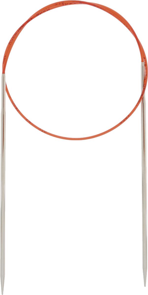 Спицы Addi, с удлиненным кончиком, круговые, цвет: серебристый, красный, диаметр 3 мм, длина 60 см775-7/3-60Спицы Addi изготовлены из латуни с никелированной поверхностью. Полые, очень легкие спицы с удлиненным кончиком скреплены мягким и гибким нейлоновым шнуром. Гладкое никелированное покрытие и тонкие переходы от спицы к шнуру позволяют петлям легче скользить. Малый вес изделия убережет ваши руки от усталости при вязании. Вы сможете вязать для себя, делать подарки друзьям. Работа, сделанная своими руками, долго будет радовать вас и ваших близких.