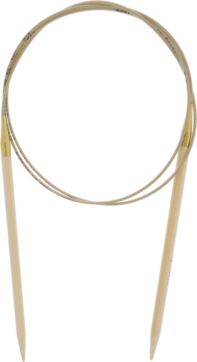 Спицы Addi, бамбуковые, круговые, диаметр 5,5 мм, длина 100 см555-7/5.5-100Спицы для вязания Addi, изготовленные из высококачественного бамбука, имеют закругленные кончики и скреплены гибким нейлоновым шнуром. Поверхность спицы обрабатывается специальным, высокотехнологичным японским воском, который закрывает поры бамбука и делает поверхность абсолютно гладкой. Спицы также прочные и легкие, поэтому руки абсолютно не устают при вязании. Круговые спицы наиболее удобны для вязания тонкой пряжей. Вы сможете вязать для себя, делать подарки друзьям. Работа, сделанная своими руками, долго будет радовать вас и ваших близких.