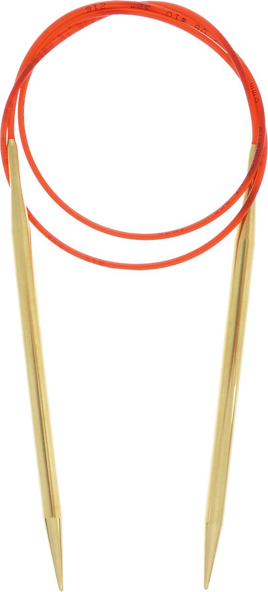 Спицы Addi, с удлиненным кончиком, круговые, цвет: золотистый, красный, диаметр 6 мм, длина 80 см755-7/6-80Спицы из латуни Addi с удлиненным кончиком, скрепленные гибким нейлоновым шнуром, не содержат никель и подходят чувствительным к этому металлу людям. Поверхность спиц менее гладкая, чем никелированная, что помогает при работе со скользкой пряжей. Изделие полое и легкое, поэтому руки абсолютно не устают при вязании. Поскольку латунь является природным материалом, возможно со временем изменение цвета спиц. Вы сможете вязать для себя, делать подарки друзьям. Работа, сделанная своими руками, долго будет радовать вас и ваших близких.