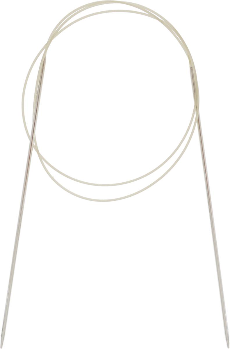 Спицы Addi, с удлиненным кончиком, круговые, цвет: серебристый, золотистый, диаметр 1,75 мм, длина 80 см715-7/1.75-80Спицы Addi изготовлены из латуни с никелированной поверхностью. Полые, очень легкие спицы с удлиненным кончиком скреплены мягким и гибким нейлоновым шнуром. Гладкое никелированное покрытие и тонкие переходы от спицы к шнуру позволяют петлям легче скользить. Малый вес изделия убережет ваши руки от усталости при вязании. Вы сможете вязать для себя, делать подарки друзьям. Работа, сделанная своими руками, долго будет радовать вас и ваших близких.