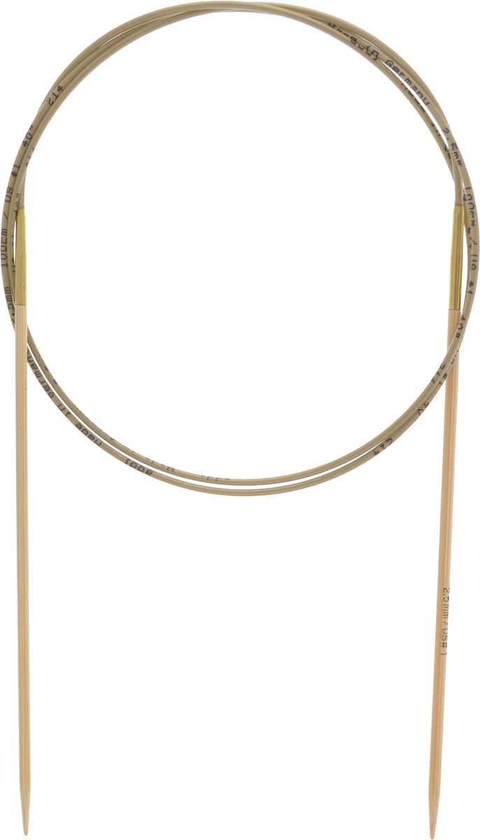 Спицы Addi, бамбуковые, круговые, диаметр 2,5 мм, длина 100 см555-7/2.5-100Спицы для вязания Addi, изготовленные из высококачественного бамбука, имеют закругленные кончики и скреплены гибким нейлоновым шнуром, позволяющим мягко скользить спицам между петлями. Бамбуковые спицы идеально подходят для людей с аллергией на металлы. Поверхность спицы обрабатывается специальным, высокотехнологичным японским воском, который закрывает поры бамбука и делает поверхность абсолютно гладкой. Изделие прочное и легкое, руки абсолютно не устают при вязании. Вы сможете вязать для себя, делать подарки друзьям. Работа, сделанная своими руками, долго будет радовать вас и ваших близких.