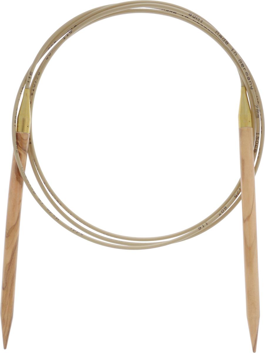 Спицы Addi, из оливкового дерева, круговые, диаметр 7,0 мм, длина 50 см575-7/7-150Спицы Addi изготовлены из оливкового дерева и скреплены гибким нейлоновым шнуром. Каждая спица из оливкового дерева уникальна своим рисунком. Изделия обработаны натуральным воском, что делает их особенно гладкими и приятными в работе. Помимо мягкости и удобства при работе эти спицы являются элементами роскоши. Вы сможете вязать для себя, делать подарки друзьям. Работа, сделанная своими руками, долго будет радовать вас и ваших близких.