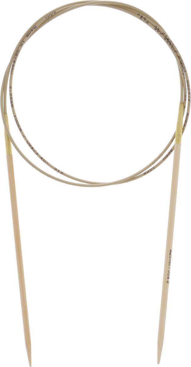 Спицы Addi, бамбуковые, круговые, диаметр 3,25 мм, длина 100 см555-7/3.25-100Спицы для вязания Addi, изготовленные из высококачественного бамбука, имеют закругленные кончики и скреплены гибким нейлоновым шнуром. Поверхность спицы обрабатывается специальным, высокотехнологичным японским воском, который закрывает поры бамбука и делает поверхность абсолютно гладкой. Спицы также прочные и легкие, поэтому руки абсолютно не устают при вязании. Круговые спицы наиболее удобны для вязания тонкой пряжей. Вы сможете вязать для себя, делать подарки друзьям. Работа, сделанная своими руками, долго будет радовать вас и ваших близких.