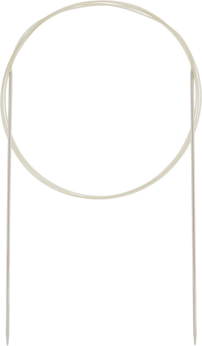 Спицы Addi, круговые, диаметр 1,75 мм, длина 120 см114-7/1.75-120Спицы Addi изготовлены из латуни с никелированной поверхностью. Полые, очень легкие спицы с удлиненным кончиком скреплены мягким и гибким нейлоновым шнуром. Гладкое никелированное покрытие и тонкие переходы от спицы к шнуру позволяют петлям легче скользить. Малый вес изделия убережет ваши руки от усталости при вязании. Вы сможете вязать для себя, делать подарки друзьям. Работа, сделанная своими руками, долго будет радовать вас и ваших близких.