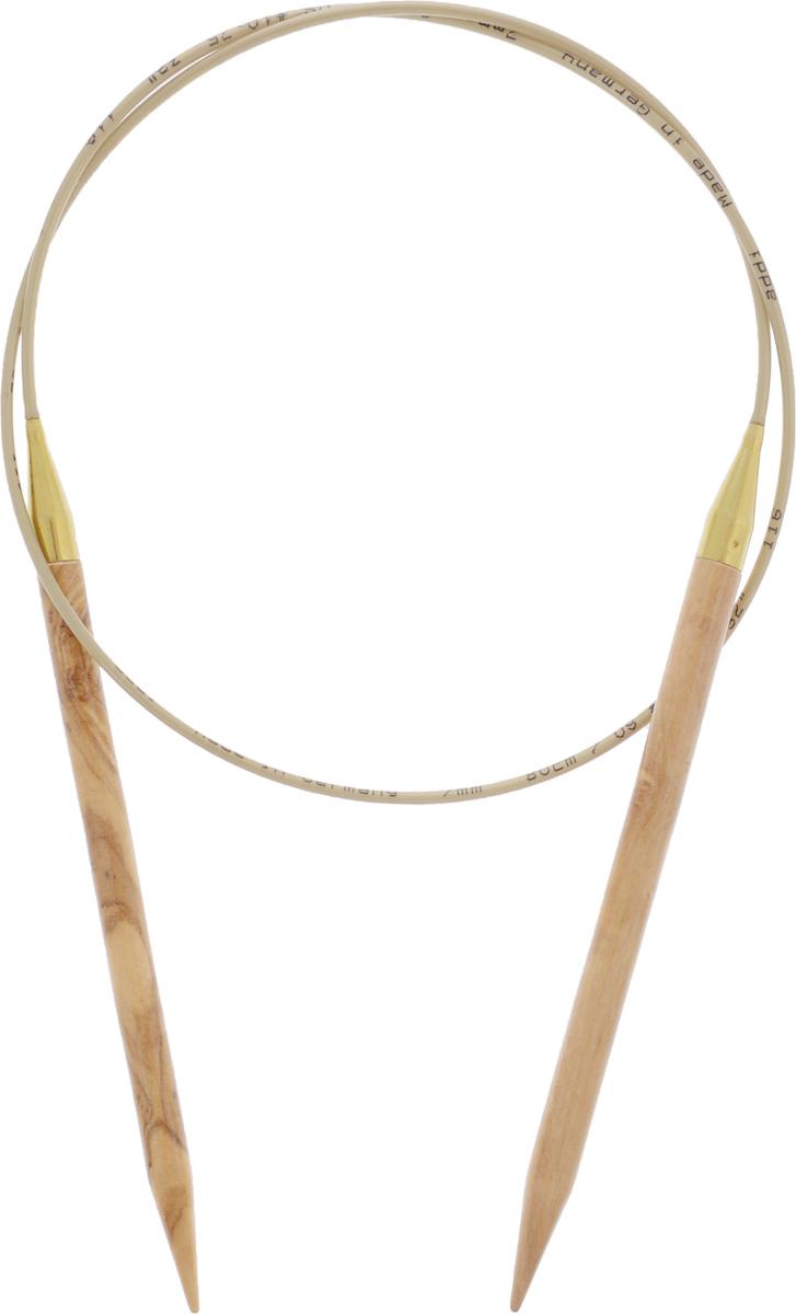 Спицы Addi, из оливкового дерева, круговые, диаметр 7,0 мм, длина 80 см575-7/7-80Спицы Addi изготовлены из оливкового дерева и скреплены гибким нейлоновым шнуром. Каждая спица из оливкового дерева уникальна своим рисунком. Изделия обработаны натуральным воском, что делает их особенно гладкими и приятными в работе. Помимо мягкости и удобства при работе эти спицы являются элементами роскоши. Вы сможете вязать для себя, делать подарки друзьям. Работа, сделанная своими руками, долго будет радовать вас и ваших близких.