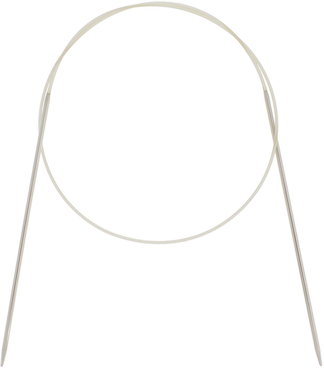 Спицы Addi, круговые, диаметр 1,75 мм, длина 50 см114-7/1.75-50Спицы Addi изготовлены из латуни с никелированной поверхностью. Полые, очень легкие спицы с удлиненным кончиком скреплены мягким и гибким нейлоновым шнуром. Гладкое никелированное покрытие и тонкие переходы от спицы к шнуру позволяют петлям легче скользить. Малый вес изделия убережет ваши руки от усталости при вязании. Вы сможете вязать для себя, делать подарки друзьям. Работа, сделанная своими руками, долго будет радовать вас и ваших близких.