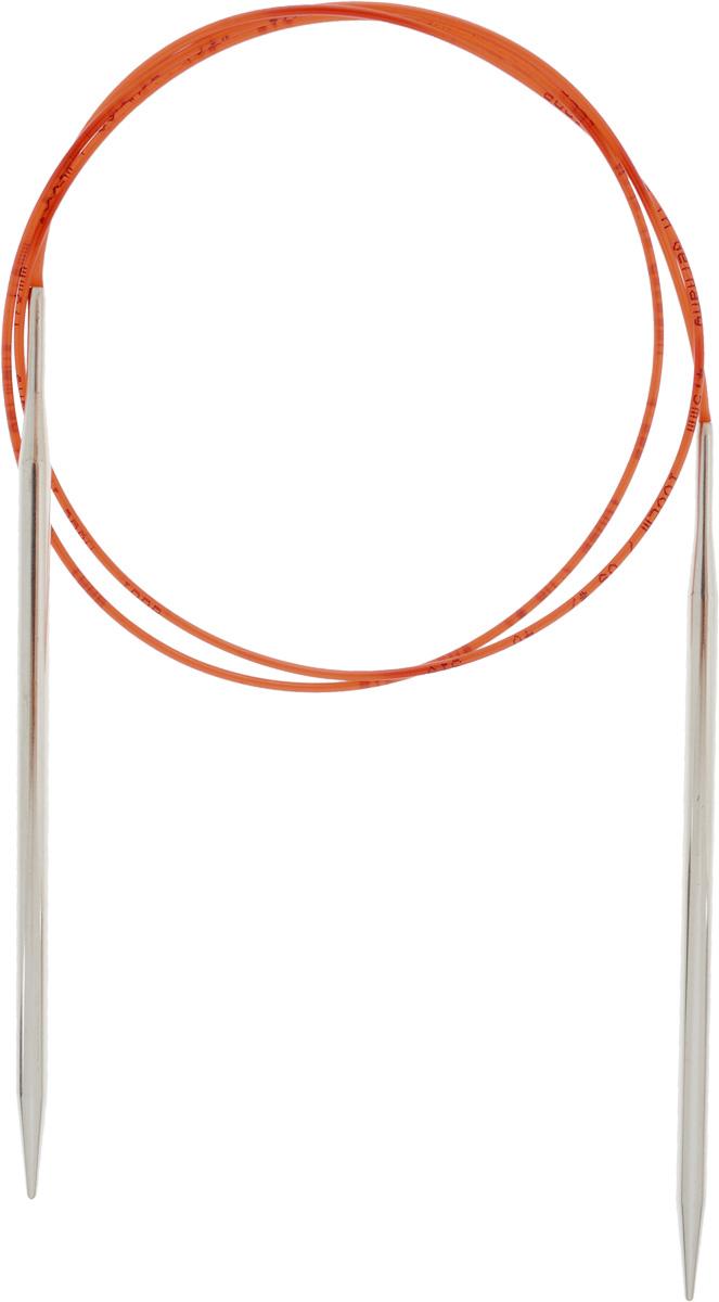 Спицы Addi, с удлиненным кончиком, круговые, цвет: серебристый, красный, диаметр 4,5 мм, длина 100 см775-7/4.5-100Спицы Addi изготовлены из латуни с никелированной поверхностью. Полые, очень легкие спицы с удлиненным кончиком скреплены мягким и гибким нейлоновым шнуром. Гладкое никелированное покрытие и тонкие переходы от спицы к шнуру позволяют петлям легче скользить. Малый вес изделия убережет ваши руки от усталости при вязании. Вы сможете вязать для себя, делать подарки друзьям. Работа, сделанная своими руками, долго будет радовать вас и ваших близких.