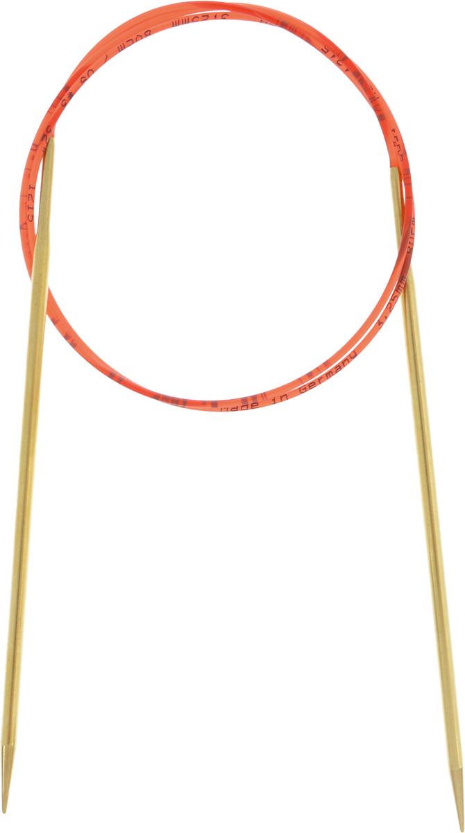 Спицы Addi, с удлиненным кончиком, круговые, цвет: золотистый, красный, диаметр 3,25 мм, длина 80 см755-7/3.25-80Спицы из латуни Addi с удлиненным кончиком, скрепленные гибким нейлоновым шнуром, не содержат никель и подходят чувствительным к этому металлу людям. Поверхность спиц менее гладкая, чем никелированная, что помогает при работе со скользкой пряжей. Изделие полое и легкое, поэтому руки абсолютно не устают при вязании. Поскольку латунь является природным материалом, возможно со временем изменение цвета спиц. Вы сможете вязать для себя, делать подарки друзьям. Работа, сделанная своими руками, долго будет радовать вас и ваших близких.