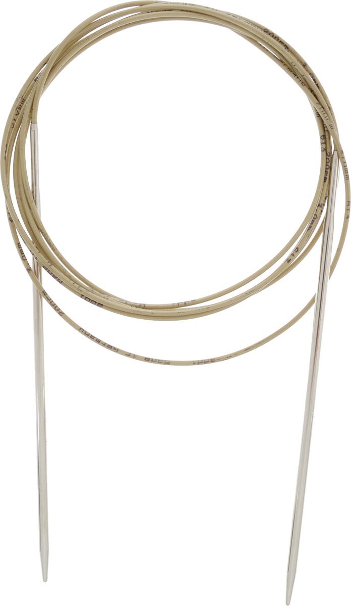 Спицы Addi, круговые, диаметр 3 мм, длина 200 см108-7/3-200Спицы Addi изготовлены из латуни с никелированной поверхностью. Полые, очень легкие спицы с удлиненным кончиком скреплены мягким и гибким нейлоновым шнуром. Гладкое никелированное покрытие и тонкие переходы от спицы к шнуру позволяют петлям легче скользить. Малый вес изделия убережет ваши руки от усталости при вязании. Вы сможете вязать для себя, делать подарки друзьям. Работа, сделанная своими руками, долго будет радовать вас и ваших близких.